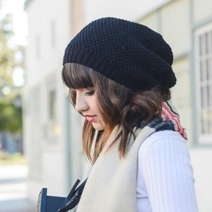 Knitted Slouched Hat